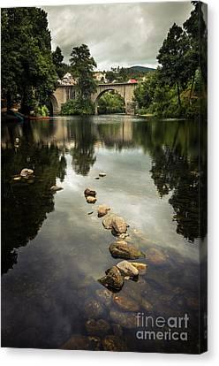 River Landscape Canvas Print by Carlos Caetano
