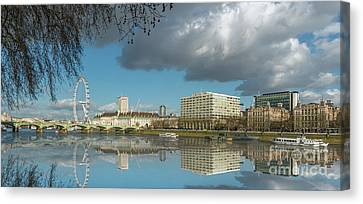 River Thames London Canvas Print