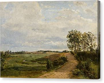 Road Across The Hills. Study Canvas Print