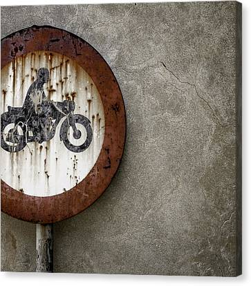 Obligatory Canvas Print - Road Sign Ban by Germano Poli
