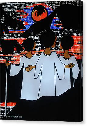 Road To Emmaus Canvas Print by Gloria Ssali