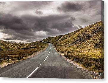 Road To Nowhere Canvas Print by David Warrington