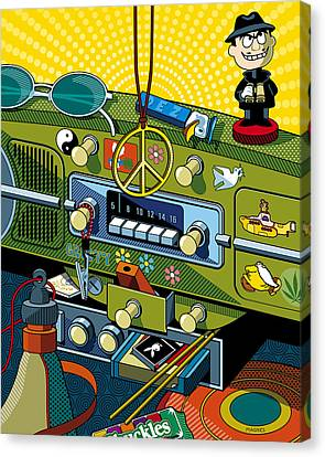Road Trip '69 Canvas Print by Ron Magnes