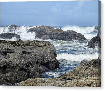 Canvas Print featuring the photograph Roads End by Peggy Hughes
