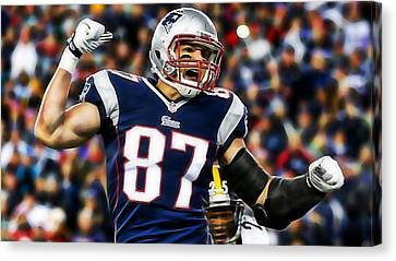 Rob Gronkowski Collection Canvas Print by Marvin Blaine