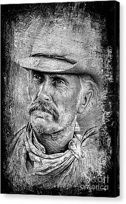 Robert Duvall The Western Collection Canvas Print by Andrew Read