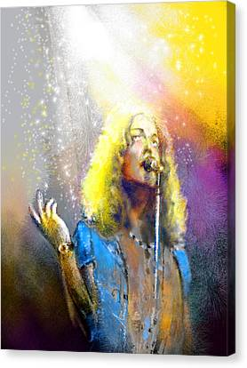 Robert Plant 02 Canvas Print by Miki De Goodaboom