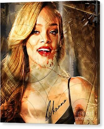 Robyn Rihanna Fenty - Rihanna Canvas Print by Sir Josef - Social Critic - ART