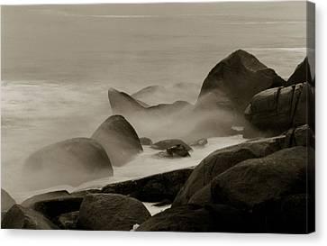 Rock And Sea Canvas Print