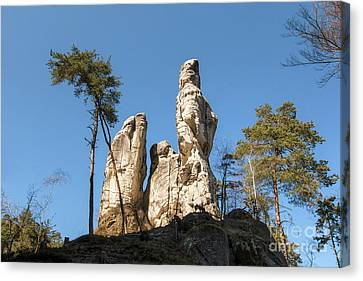 Canvas Print featuring the photograph Rock Formations In The Bohemian Paradise Geopark by Michal Boubin