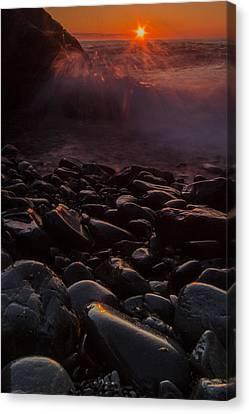 Sunrise Waves Canvas Print by William Sanger