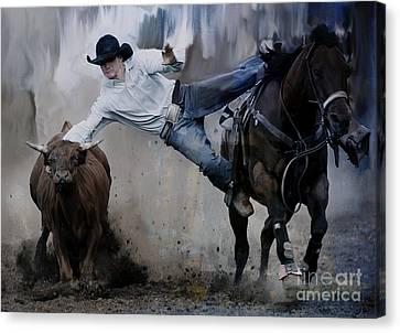 Barn Jq Licensing Canvas Print - Rodeo  by Gull G