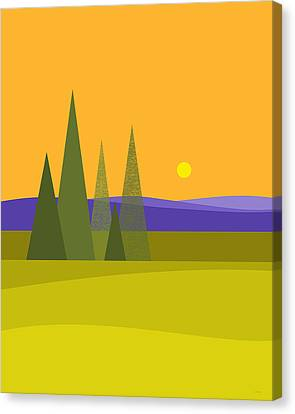 Canvas Print featuring the digital art Rolling Hills by Val Arie
