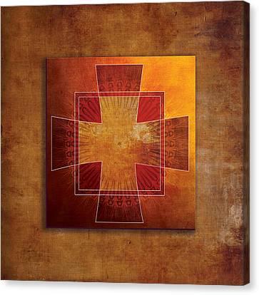 Roman Cross #3 Canvas Print by Terry Davis
