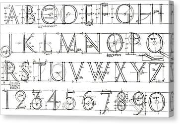 Roman Lettering From The Trajan Column Canvas Print