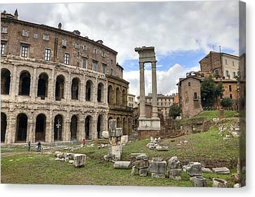Rome - Theatre Of Marcellus Canvas Print by Joana Kruse