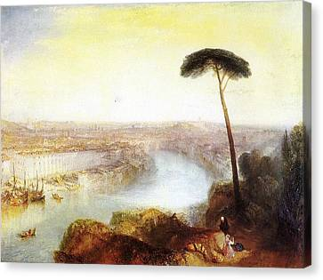 Rome From Mount Aventine Canvas Print by JMW Turner