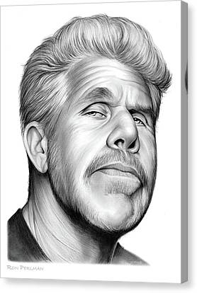 Ron Perlman Canvas Print by Greg Joens