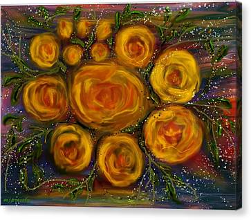 Roses Canvas Print by June Pressly