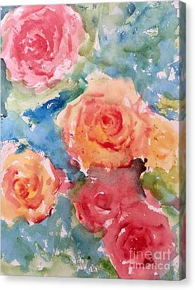 Roses Canvas Print by Trilby Cole