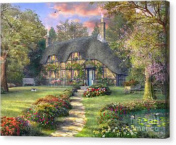 Rosewood Cottage Canvas Print by Dominic Davison