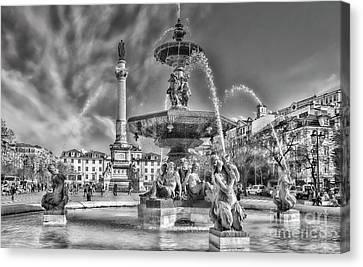 Rossio Square, Lisbon, Portugal Canvas Print by Philip Preston