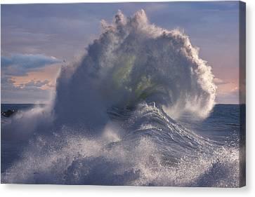 Rough Sea 19 Canvas Print by Giovanni Allievi