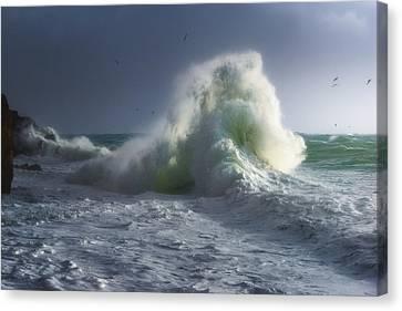 Rough Sea 5 Canvas Print by Giovanni Allievi