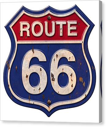 Hoodie Canvas Print - Route 66 Shirt by WB Johnston