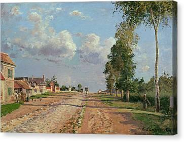 Route De Versailles Rocquencourt Canvas Print by Camille Pissarro