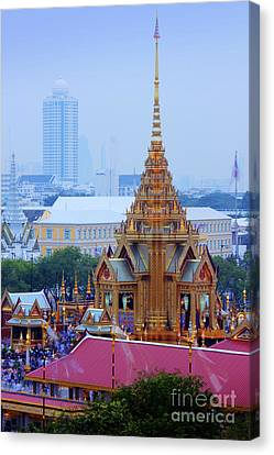 Royal Cremation Ceremony Canvas Print by Buchachon Petthanya