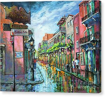 Canvas Print featuring the painting Royal Lights by Dianne Parks