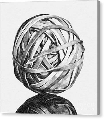 Rubber Band Ball Canvas Print