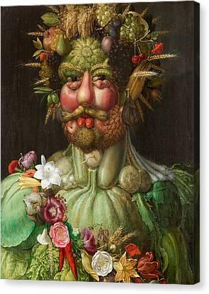 Rudolf II Of Habsburg As Vertumnus Canvas Print by Giuseppe Arcimboldo