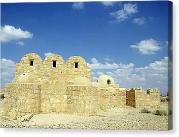 Ruins Of Qasr Amra In Jordan Canvas Print by Sami Sarkis