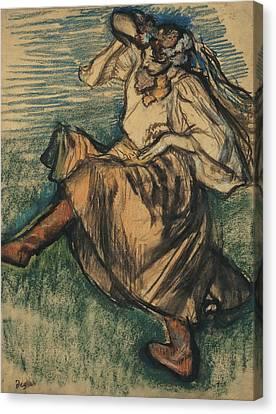 Russian Dancer Canvas Print by Edgar Degas