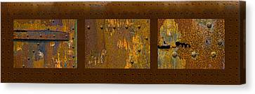 Rust Triptych Canvas Print by Gary LaComa