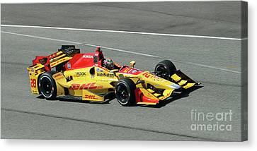 Ryan Hunter Reay Indycar Canvas Print by Steve Gass