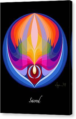 Sacred Canvas Print by Angela Treat Lyon