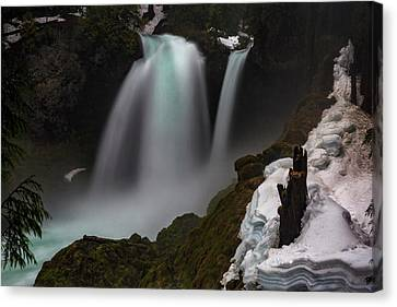 Canvas Print featuring the photograph Sahalie Falls by Cat Connor