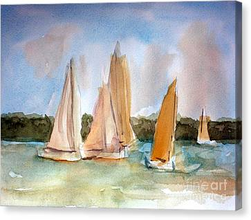 Sailing  Canvas Print by Julie Lueders