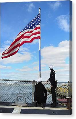 Sailors Salute Canvas Print by Celestial Images