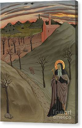 St Anthony The Great Canvas Print - Saint Anthony The Abbot In The Wilderness by Master of the Osservanza