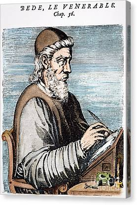 Saint Bede (c672-735) Canvas Print by Granger