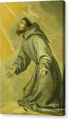 Saint Francis Receiving The Stigmata Canvas Print