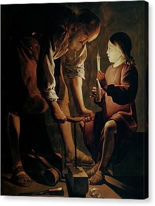 Saint Joseph The Carpenter  Canvas Print