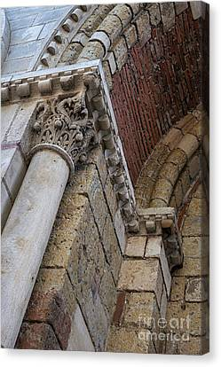 Saint Sernin Basilica Architectural Detail Canvas Print by Elena Elisseeva