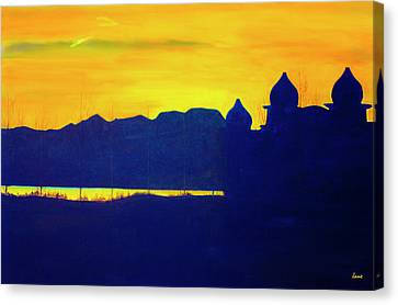 Saltair Sunset Canvas Print by Jane Autry