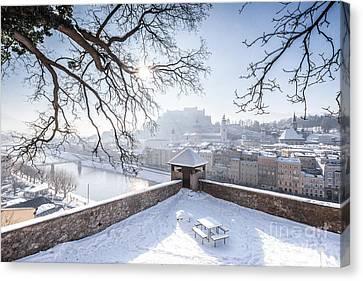 Salzburg Winter Dreams Canvas Print by JR Photography