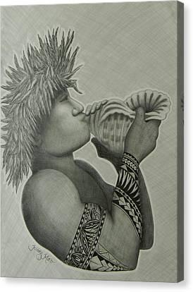 Samoan Taulima Canvas Print by Kristy Mao